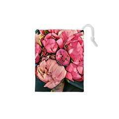 Beautiful Peonies Drawstring Pouches (xs)  by 8fugoso