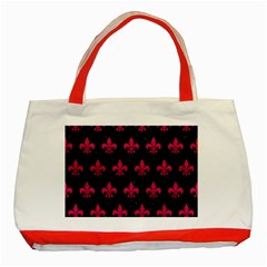 Royal1 Black Marble & Pink Leather Classic Tote Bag (red)