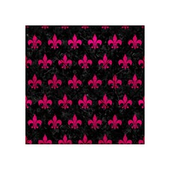 Royal1 Black Marble & Pink Leather Acrylic Tangram Puzzle (4  X 4 ) by trendistuff