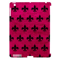 Royal1 Black Marble & Pink Leather (r) Apple Ipad 3/4 Hardshell Case (compatible With Smart Cover) by trendistuff