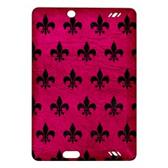 Royal1 Black Marble & Pink Leather (r) Amazon Kindle Fire Hd (2013) Hardshell Case by trendistuff