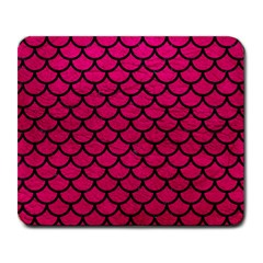 Scales1 Black Marble & Pink Leather Large Mousepads by trendistuff