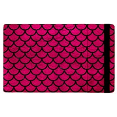 Scales1 Black Marble & Pink Leather Apple Ipad 3/4 Flip Case by trendistuff