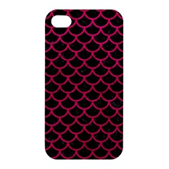Scales1 Black Marble & Pink Leather (r) Apple Iphone 4/4s Hardshell Case by trendistuff