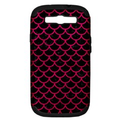 Scales1 Black Marble & Pink Leather (r) Samsung Galaxy S Iii Hardshell Case (pc+silicone) by trendistuff