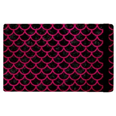 Scales1 Black Marble & Pink Leather (r) Apple Ipad 3/4 Flip Case by trendistuff