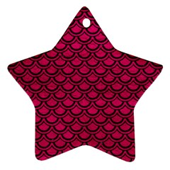 Scales2 Black Marble & Pink Leather Star Ornament (two Sides) by trendistuff