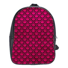 Scales2 Black Marble & Pink Leather School Bag (large) by trendistuff