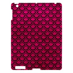 Scales2 Black Marble & Pink Leather Apple Ipad 3/4 Hardshell Case by trendistuff