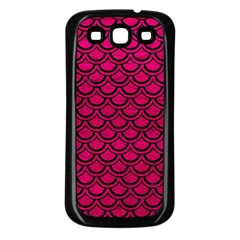 Scales2 Black Marble & Pink Leather Samsung Galaxy S3 Back Case (black) by trendistuff