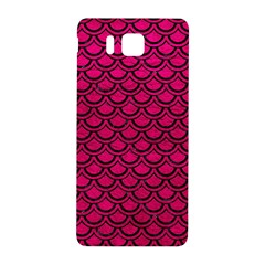 Scales2 Black Marble & Pink Leather Samsung Galaxy Alpha Hardshell Back Case by trendistuff