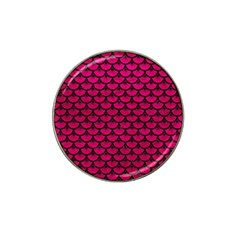 Scales3 Black Marble & Pink Leather Hat Clip Ball Marker (10 Pack) by trendistuff