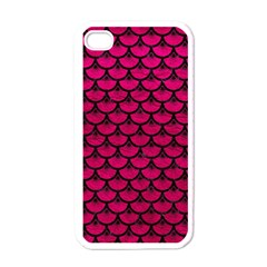 Scales3 Black Marble & Pink Leather Apple Iphone 4 Case (white) by trendistuff