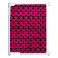 Scales3 Black Marble & Pink Leather Apple Ipad 2 Case (white) by trendistuff
