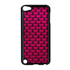 Scales3 Black Marble & Pink Leather Apple Ipod Touch 5 Case (black) by trendistuff