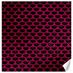Scales3 Black Marble & Pink Leather (r) Canvas 12  X 12   by trendistuff
