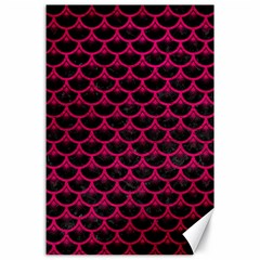 Scales3 Black Marble & Pink Leather (r) Canvas 24  X 36  by trendistuff