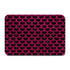 Scales3 Black Marble & Pink Leather (r) Plate Mats by trendistuff