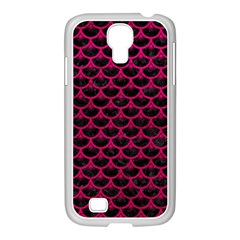 Scales3 Black Marble & Pink Leather (r) Samsung Galaxy S4 I9500/ I9505 Case (white) by trendistuff