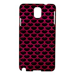 Scales3 Black Marble & Pink Leather (r) Samsung Galaxy Note 3 N9005 Hardshell Case by trendistuff