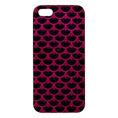 Scales3 Black Marble & Pink Leather (r) Iphone 5s/ Se Premium Hardshell Case by trendistuff