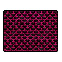 Scales3 Black Marble & Pink Leather (r) Double Sided Fleece Blanket (small)  by trendistuff
