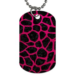 Skin1 Black Marble & Pink Leather Dog Tag (two Sides) by trendistuff