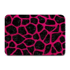 Skin1 Black Marble & Pink Leather Plate Mats by trendistuff