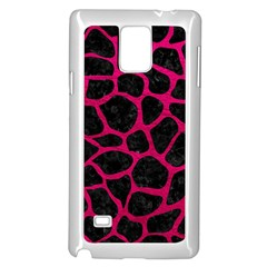 Skin1 Black Marble & Pink Leather Samsung Galaxy Note 4 Case (white) by trendistuff