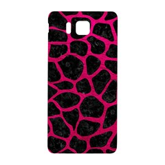Skin1 Black Marble & Pink Leather Samsung Galaxy Alpha Hardshell Back Case by trendistuff