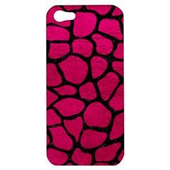 Skin1 Black Marble & Pink Leather (r) Apple Iphone 5 Hardshell Case by trendistuff