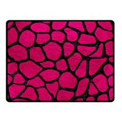 Skin1 Black Marble & Pink Leather (r) Double Sided Fleece Blanket (small)  by trendistuff
