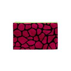 Skin1 Black Marble & Pink Leather (r) Cosmetic Bag (xs) by trendistuff