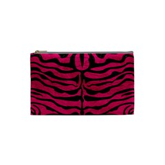 Skin2 Black Marble & Pink Leather Cosmetic Bag (small)  by trendistuff