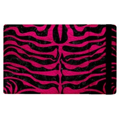 Skin2 Black Marble & Pink Leather (r) Apple Ipad 2 Flip Case by trendistuff