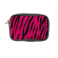 Skin3 Black Marble & Pink Leather Coin Purse by trendistuff