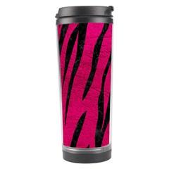 Skin3 Black Marble & Pink Leather Travel Tumbler by trendistuff