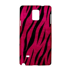Skin3 Black Marble & Pink Leather Samsung Galaxy Note 4 Hardshell Case by trendistuff