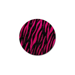 Skin3 Black Marble & Pink Leather (r) Golf Ball Marker (10 Pack) by trendistuff