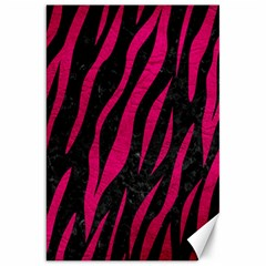 Skin3 Black Marble & Pink Leather (r) Canvas 20  X 30   by trendistuff
