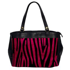 Skin4 Black Marble & Pink Leather Office Handbags by trendistuff