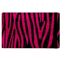 Skin4 Black Marble & Pink Leather Apple Ipad 3/4 Flip Case by trendistuff