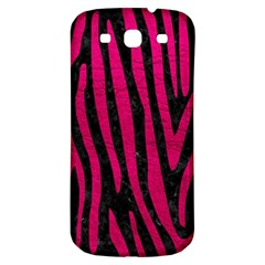 Skin4 Black Marble & Pink Leather Samsung Galaxy S3 S Iii Classic Hardshell Back Case by trendistuff
