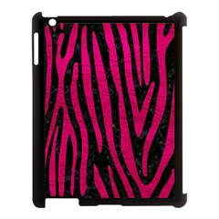 Skin4 Black Marble & Pink Leather Apple Ipad 3/4 Case (black) by trendistuff