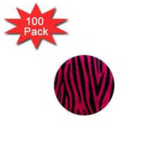 Skin4 Black Marble & Pink Leather (r) 1  Mini Magnets (100 Pack)  by trendistuff