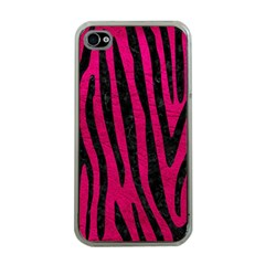 Skin4 Black Marble & Pink Leather (r) Apple Iphone 4 Case (clear) by trendistuff