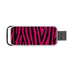Skin4 Black Marble & Pink Leather (r) Portable Usb Flash (two Sides) by trendistuff