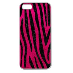Skin4 Black Marble & Pink Leather (r) Apple Seamless Iphone 5 Case (clear) by trendistuff