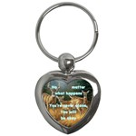 No matter will be okay keychain - Key Chain (Heart)