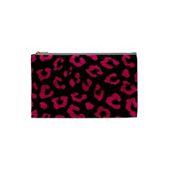 Skin5 Black Marble & Pink Leather Cosmetic Bag (small)  by trendistuff